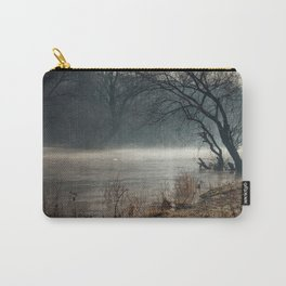 Morning fog, river and sunrise Carry-All Pouch