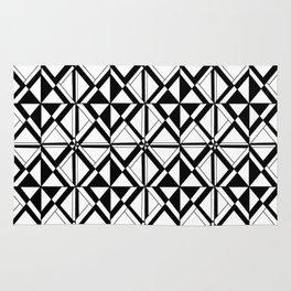 Symetric triangle 10 -vichy, gingham,strip,triangle,geometric, sober,tartan,mandala Rug