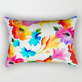 Dancing Floral Rectangular Pillow