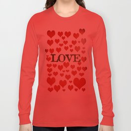Love Heart Valentines Design  Long Sleeve T-shirt