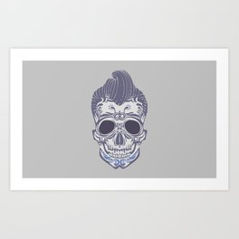 Skull of the sixties Art Print