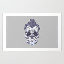 Skull of the sixties Art Print
