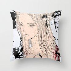 地獄太夫 (地獄, 地獄, 地獄) - JIGOKUDAYU (JIGOKU, JIGOKU, JIGOKU) Throw Pillow