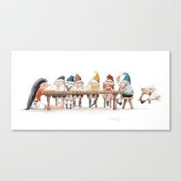 At the Table Canvas Print