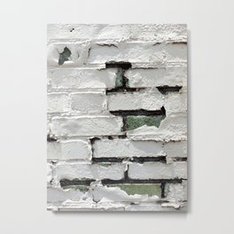 Peeling Brick Wall 2 Metal Print