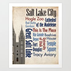 Travel - Salt Lake City Art Print