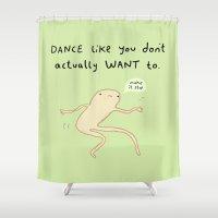 motivation Shower Curtains featuring Dance Motivation by Sophie Corrigan