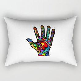 Folk Art Hand Rectangular Pillow