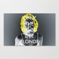 blondie Canvas Prints featuring Blondie by Justin Catron