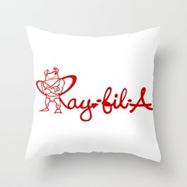 Ray Fillet's Ray-fil-A Throw Pillow