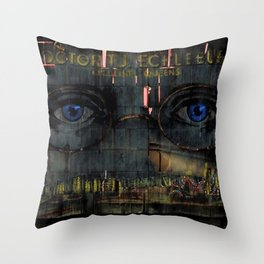 The Eyes of God Portrait by Jeanpaul Ferro Throw Pillow