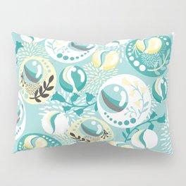 Light Teal Marble Balls Pillow Sham