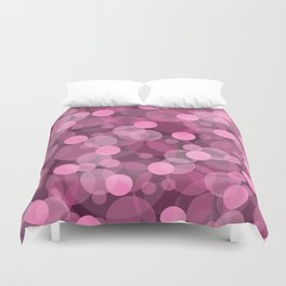 Pink Bubbles 2 Duvet Cover