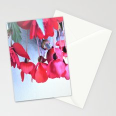 red begonies Stationery Cards