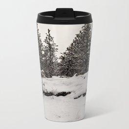 trees in the snow Metal Travel Mug