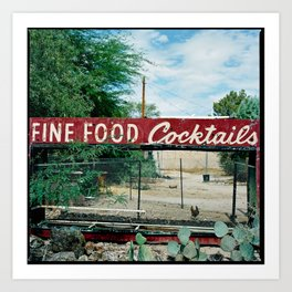 Fine Food Cocktails Art Print