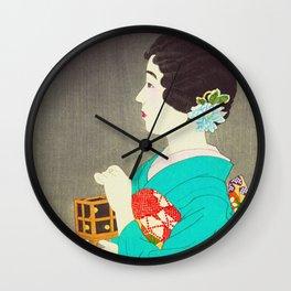 Mushikago - Insect Cage - Japanese Art Wall Clock