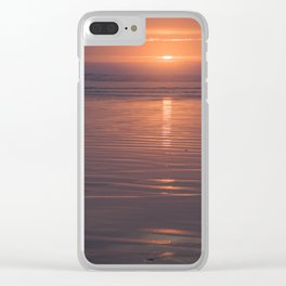 Sunset Sings Quietly Clear iPhone Case