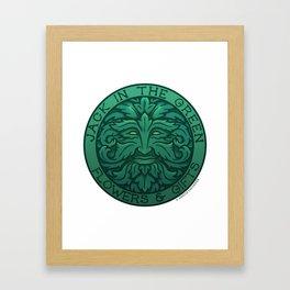 The Jack in the Green Framed Art Print