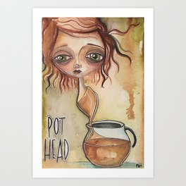 Need Coffee! Art Print