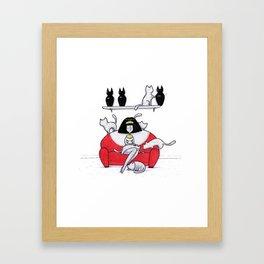 Mummy Cat Lady Framed Art Print