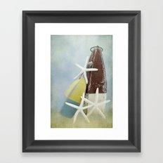 Buoys and Starfish Framed Art Print