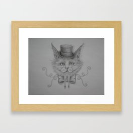 Fancy Cat with hat Framed Art Print