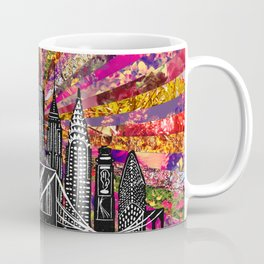 Linocut New York Blooming Coffee Mug