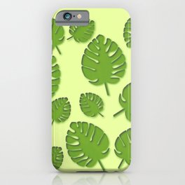 tropical leafs in spring iPhone Case