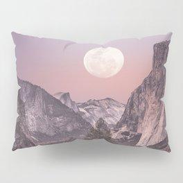 Pastel Full Moon Over Yosemite Park Pillow Sham