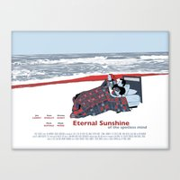 eternal sunshine of the spotless mind Canvas Prints featuring Eternal Sunshine Of The Spotless Mind by Ted Takeshi Doré