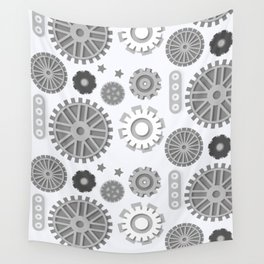 Simply Steampunk Pattern Wall Tapestry