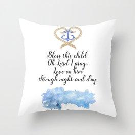 Nautical Nursery Throw Pillow