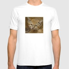 Sand Cat MEDIUM White Mens Fitted Tee
