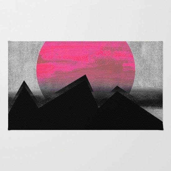 Pink Sun Rug