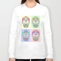 sugar skulls Long Sleeve T-shirts featuring Sugar Skulls by TheFinalPiece