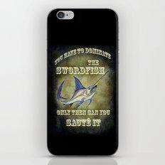 Swordfish sauté iPhone & iPod Skin