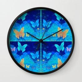 Classy Butterfly Origami Window Print Wall Clock