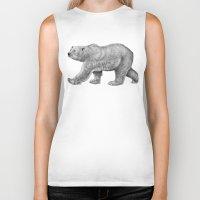 polar bear Biker Tanks featuring Polar Bear by Tim Jeffs Art