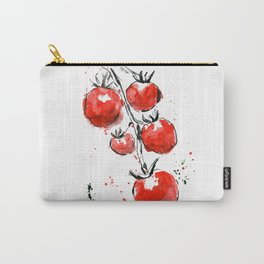 Bright juicy tomatoes. Watercolor picture of vegetables. Carry-All Pouch