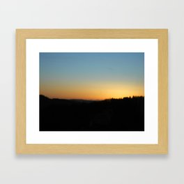 colors in the sky Framed Art Print