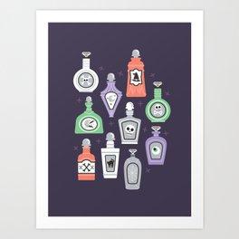 Potion Bottles Art Print