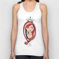 american Tank Tops featuring American  by Gabriela Borges