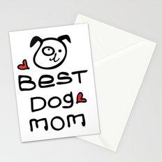 Best dog mom Stationery Cards