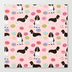 English Springer Spaniel donuts funny dog gifts perfect for spaniel owner pet portraits Canvas Print