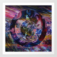 Space Marble Version 2 Art Print