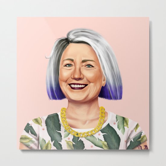 Hipstory - Hillary Clinton Metal Print