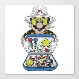 Mario - Fear And Loathing In Las Vegas Canvas Print