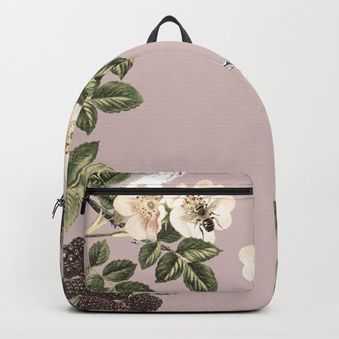 Birds and the Bees Pink Berry Backpack