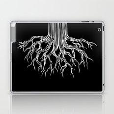Tree Root Drawing (white on black) Laptop & iPad Skin